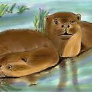 Otters by Dawn B Davies-McIninch