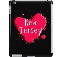 New Jersey Splash Heart New Jersey iPad Case/Skin