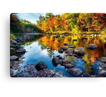 Autumn Colors Reflections  Canvas Print