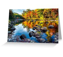 Autumn Colors Reflections  Greeting Card