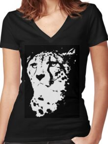 Cheetah Women's Fitted V-Neck T-Shirt