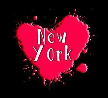 New York Splash Heart New York by Greenbaby