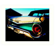 Fifties Ford Fairlane Fairly Parked on the Parkway Art Print