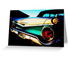 Fifties Ford Fairlane Fairly Parked on the Parkway Greeting Card