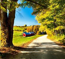 Vermont Farm Along a Country Road by George Oze
