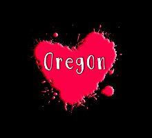 Oregon Splash Heart Oregon by Greenbaby