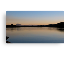 Sunset on the Tweed River at Chinderah. N.S.W. far nth. Coast. Canvas Print