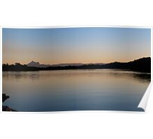 Sunset on the Tweed River at Chinderah. N.S.W. far nth. Coast. Poster