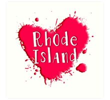 Rhode Island Splash Heart Rhode Island Art Print