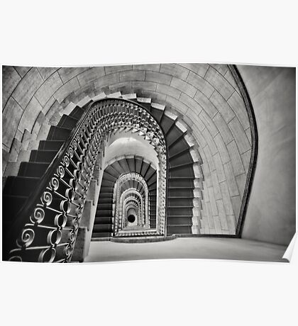 Staircase Perspective Poster