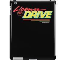 Retro License to Drive Design by Nuance Art iPad Case/Skin