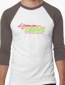 Retro License to Drive Design by Nuance Art Men's Baseball ¾ T-Shirt