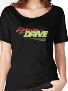 Retro License to Drive Design by Nuance Art Women's Relaxed Fit T-Shirt