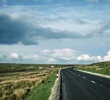 Road on Wadsworth Moor West Yorkshire England 198406030062m by Fred Mitchell