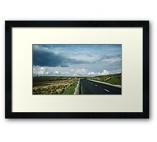 Road on Wadsworth Moor West Yorkshire England 19840603 0062m Framed Print