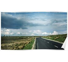 Road on Wadsworth Moor West Yorkshire England 198406030062m Poster