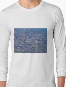 Aerial, Brisbane , Queensland, Australia Long Sleeve T-Shirt