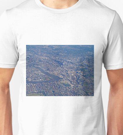 Aerial, Brisbane , Queensland, Australia Unisex T-Shirt