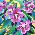 Purple Flowers by marlene veronique holdsworth