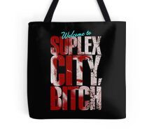 There's an F5 storm in suplex city.  Tote Bag