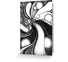 Whirlwind in black and white/ink drawing Greeting Card