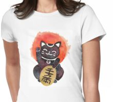 Maneki Neko Womens Fitted T-Shirt