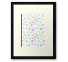 Pastel Star Pattern Design Framed Print