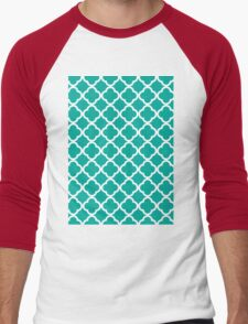Pattern Texture - Aqua Men's Baseball ¾ T-Shirt