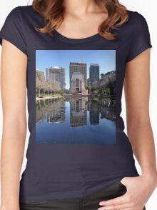 ANZAC Memorial, Hyde Park, Sydney, Australia 2012 Women's Fitted Scoop T-Shirt