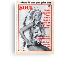 Soul Cover Oct '76 Canvas Print