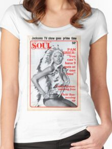 Soul Cover Oct '76 Women's Fitted Scoop T-Shirt