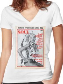Soul Cover Oct '76 Women's Fitted V-Neck T-Shirt
