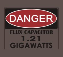 Flux Capacitor - 1.21 Gigawatts Warning Kids Clothes