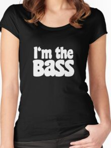 I'm the BaSS (White) Women's Fitted Scoop T-Shirt