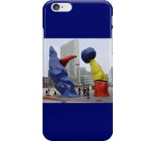 Sculptures, La Defense, Paris, France, Europe 2012 iPhone Case/Skin
