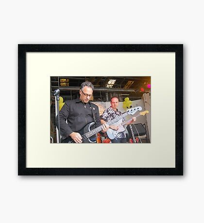 Paul Vanzella rocks out! Framed Print