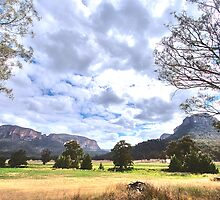 Clouds In The Valley - The Capertee Valley --The HDR Experience by Philip Johnson