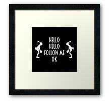 Abe's Hello (White Design) Framed Print