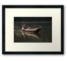 River Kids Framed Print