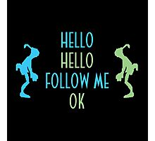 Oddworld Abe's Oddysee Hello (Blue & Green) Photographic Print