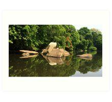 Lobé River Reflections Art Print