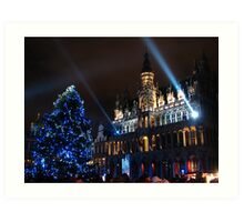 Brussels at Chistmas time Art Print