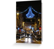 Brussels at Chistmas time Greeting Card