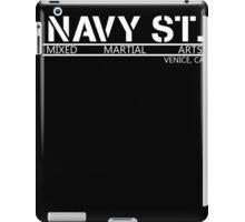 Navy Street Alternate Font- White iPad Case/Skin