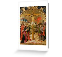 Master of Saint John and Saint Stephen - 1450, 96 x 74,5 cm Greeting Card