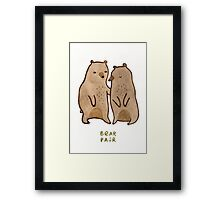 Bear Pair Framed Print