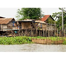 Wooden Houses on Stilts Photographic Print