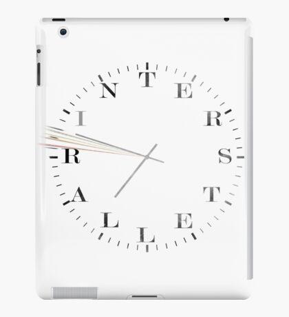 Interstellar Afraid of Time (black) iPad Case/Skin