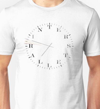 Interstellar Afraid of Time (black) Unisex T-Shirt