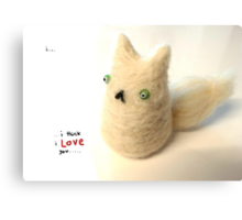 Fluffy Love Cat Canvas Print